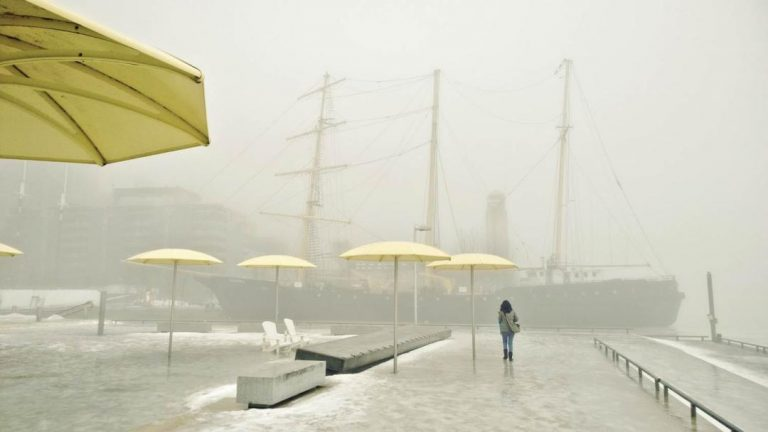 Toronto Harbourfront in the Fog